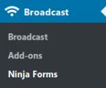 Ninja Forms   Broadcast